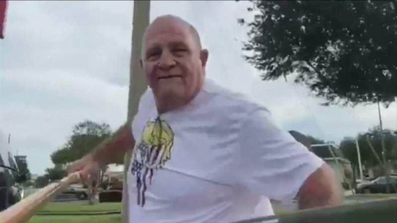 Man Attacks Woman and Daughter with Flag Pole