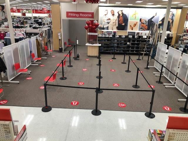 Target fitting rooms (Credit: Target)