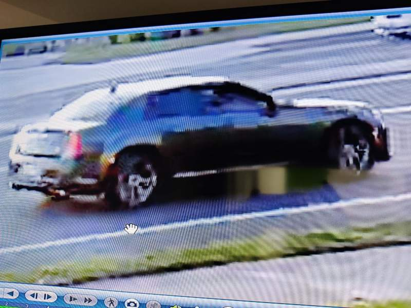 The Chrysler 300 Palm Bay police say was scene near a fatal crash on April 17, 2021. Police would like to speak to the driver.