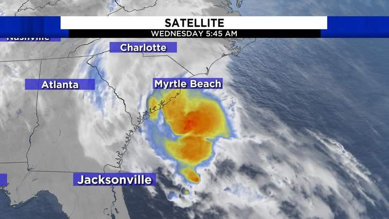 Tropical Storm Bertha makes landfall near Charleston, SC, the first landfall of 2020.