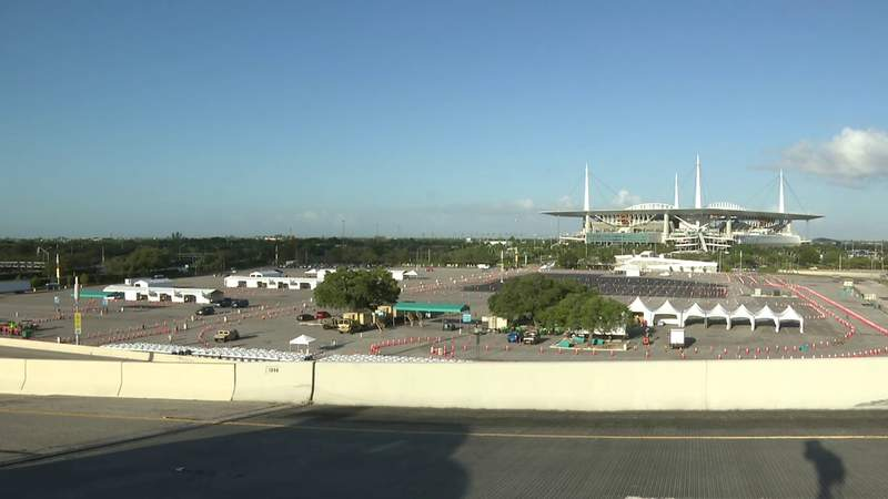 Mobile COVID-19 testing site at Hard Rock Stadium opens Sunday to first responders