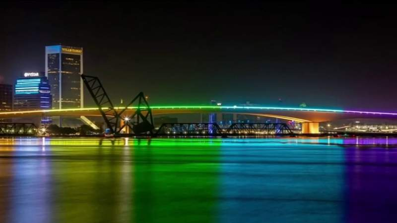 Florida agency reverses decision, will allow rainbow bridge lighting
