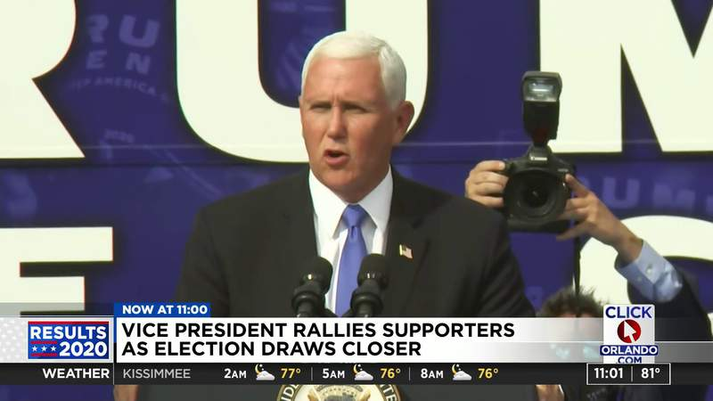 VICE PRESIDENT PENCE RALLIES SUPPORTERS IN FLORIDA