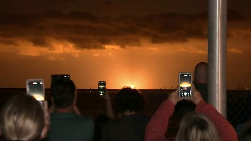 Crowds gathered in Brevard County to watch the Crew-2 launch