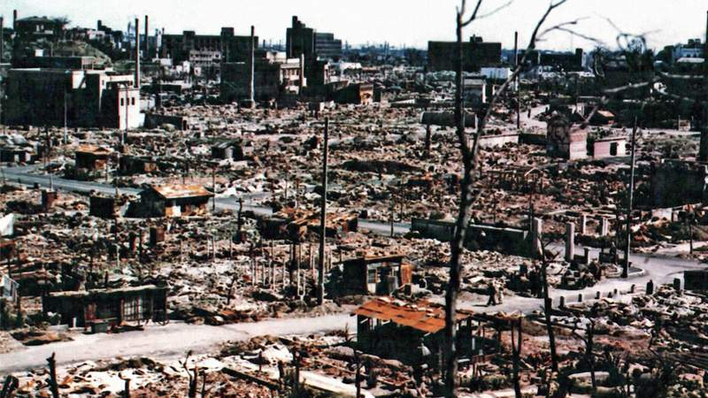 The ruins of central Hiroshima, September 1945. Photo By Galerie Bilderwelt
