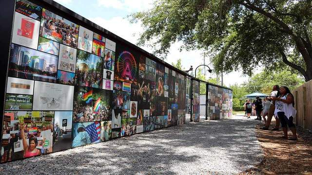 Scenes from the newly opened temporary memorial for the 49 victims of the Pulse shooting. People gathered at the memorial to honor and remember the 49 people killed two years ago on June 12. (Photo: Emilee Speck/WKMG)