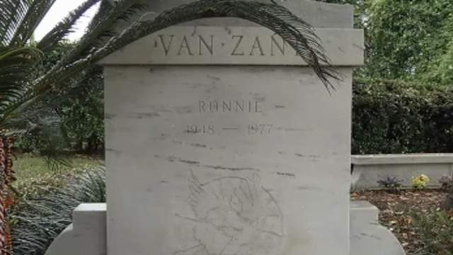 Ronnie Van Zant, the lead singer of Jacksonville rock band Lynyrd Skynyrd,is buried at Riverside Memorial Park on the Westside.