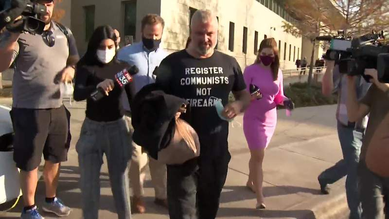 Joseph Biggs walks out of federal court