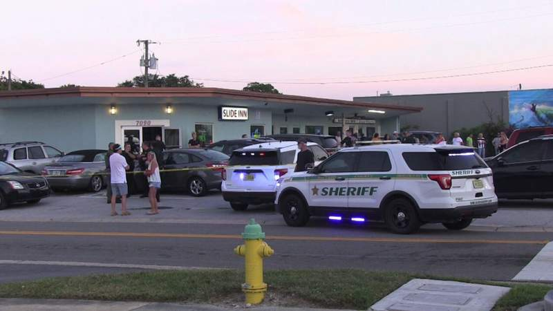 A man was shot at the Slide Inn bar in Cape Canaveral on Friday night, according to the Brevard County Sheriff's Office.