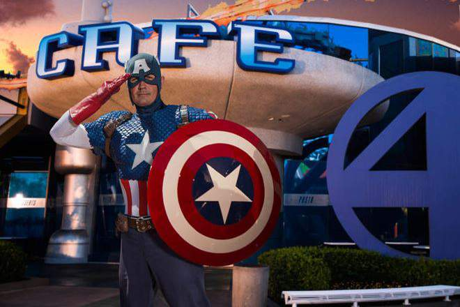 Captain America at Marvel Hero Island at Islands of Adventure