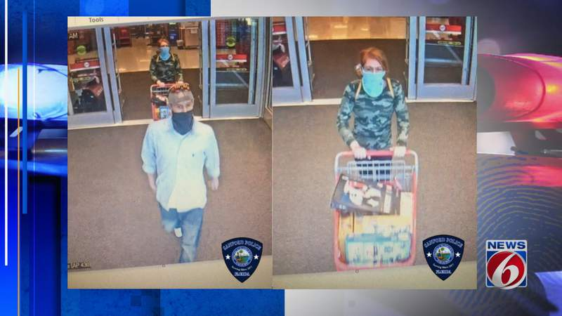 Sanford police say they are searching for two Lego thief suspects.