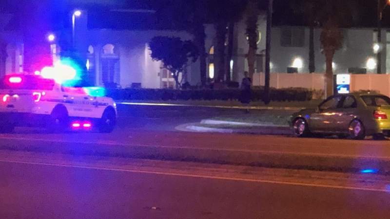 The Florida Highway Patrol said a man was hit and killed in a crash in Orlando on Tuesday night.