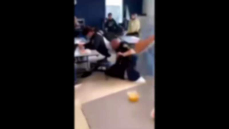 Cell phone video showing events leading to a deputy using a Taser on a student