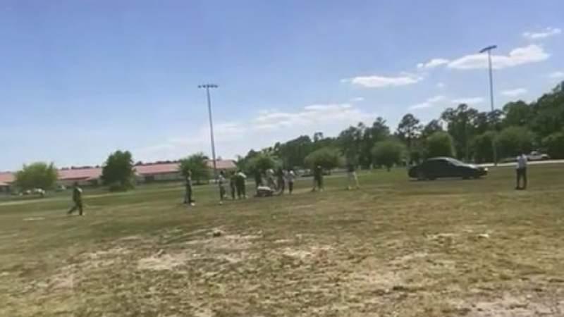 Deputies arrived to Ralph Carter Park to reports of a juvenile brawl.
