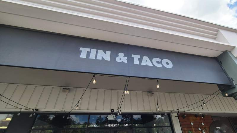 Tin & Taco on Edgewater Drive in Orlando is closed temporarily due to staffing issues, according to a sign posted on its door