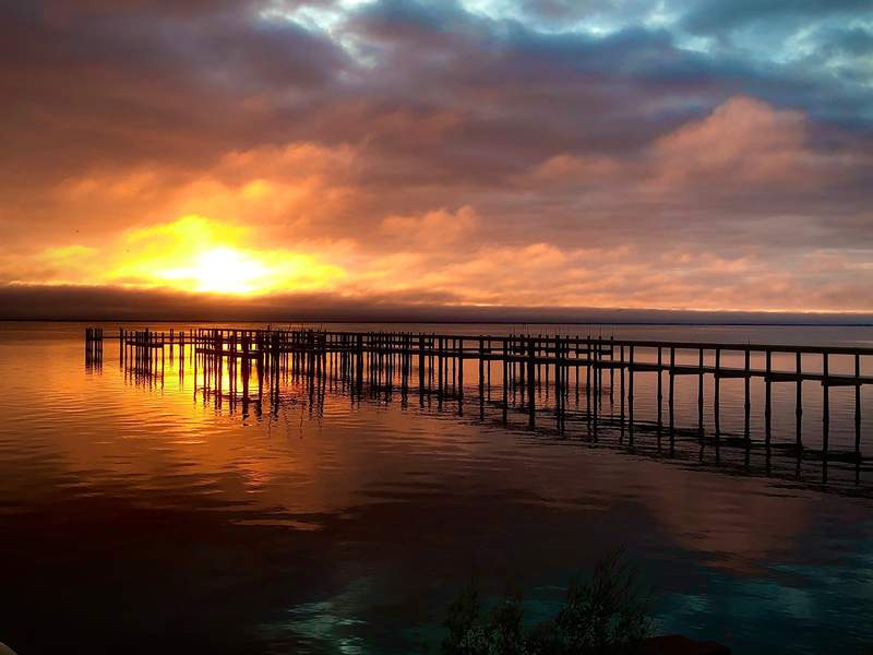 Sunrise at SpaceView Park in Titusville, Fla. on Feb. 17, 2020. (Image: James Gosselin/WKMG)