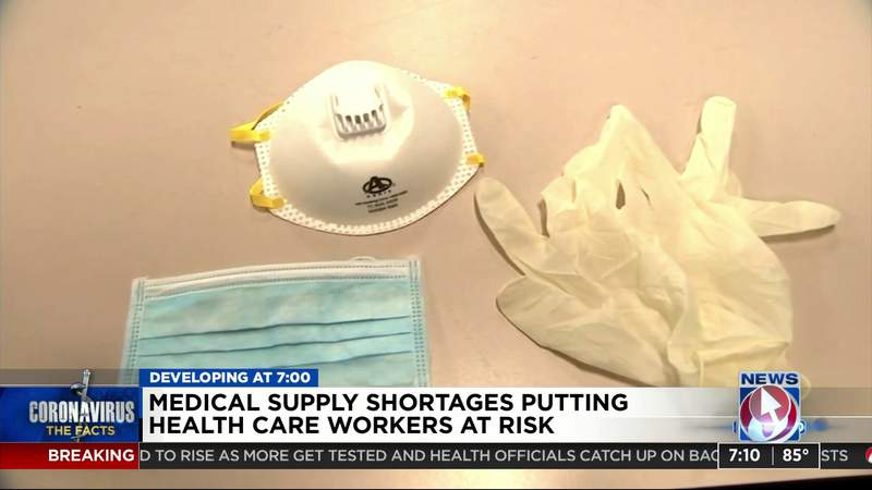Medical supply shortages putting health car workers at risk