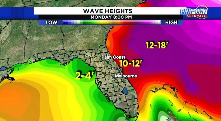 10-12' breaking waves possible through early next week