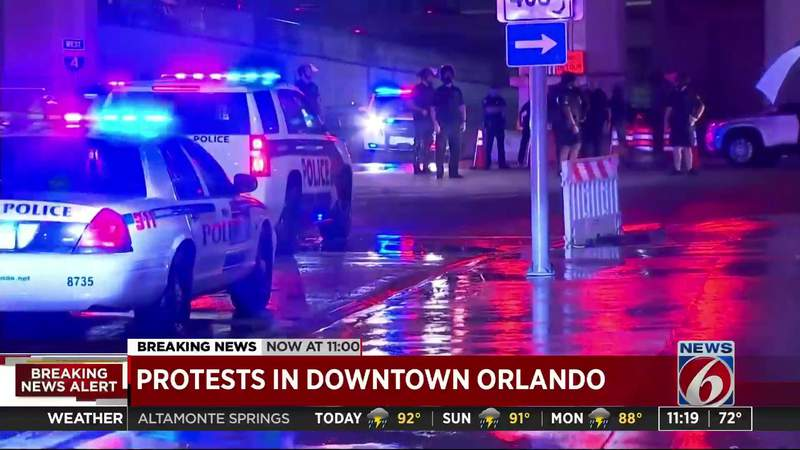 Protests in Downtown Orlando