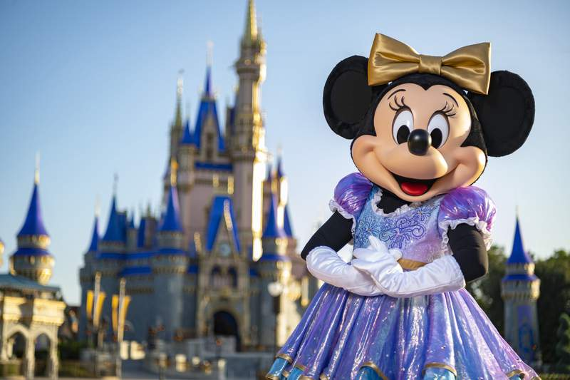"""Beginning Oct. 1, 2021, Minnie Mouse will join Mickey Mouse as hosts of """"The World's Most Magical Celebration"""" honoring Walt Disney World Resort's 50th anniversary in Lake Buena Vista, Fla."""