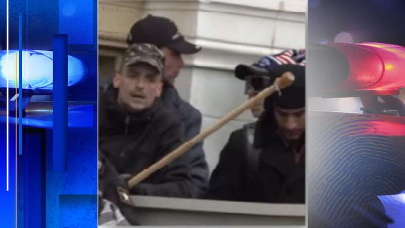 FBI: Jonathan Munafo (left) at the Capitol on Jan. 6