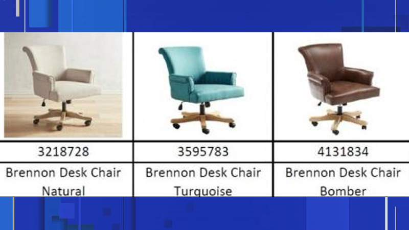 Pier 1 is recalling 6,000 desk chairs after the company received 29 reports of chair legs breaking, according to the United States Consumer Product Safety Commission.