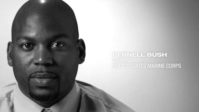 U.S. Marine Corps Corporal Pernell Bush shares his story