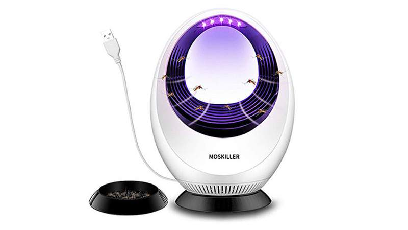 Attract and trap mosquitos with this effective LED lamp