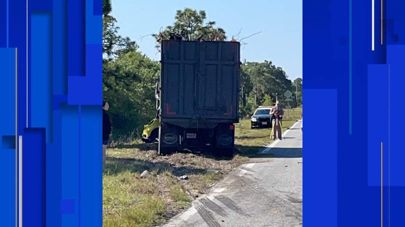 One person died in a Brevard County crash involving a dump truck.