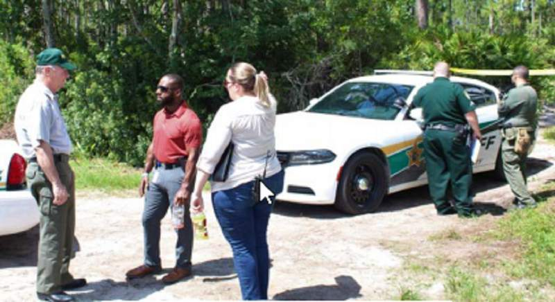 Flagler deputies say a fisherman found a body in Gore Lake on July 16, 2020.