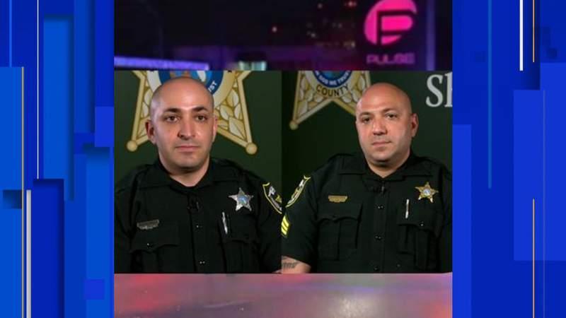 Orange County deputies Yehuda Green and Menachem Green, both brothers, share pact made night of Pulse Nightclub shooting in video. (Image: Orange County Sheriff's Office.)