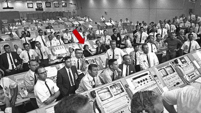 In the center of the photograph is JoAnn Morgan, the only woman engineer in the Firing Room at NASA's Kennedy Space Center on July 16, 1969. Fifty years later, the firing room will be led by the first woman launch director. (image: NASA file)