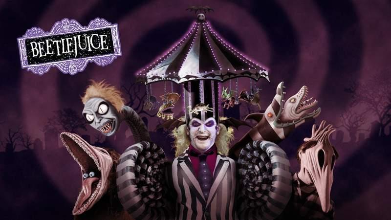Beetlejuice house at Universal Orlando's Halloween Horror Nights