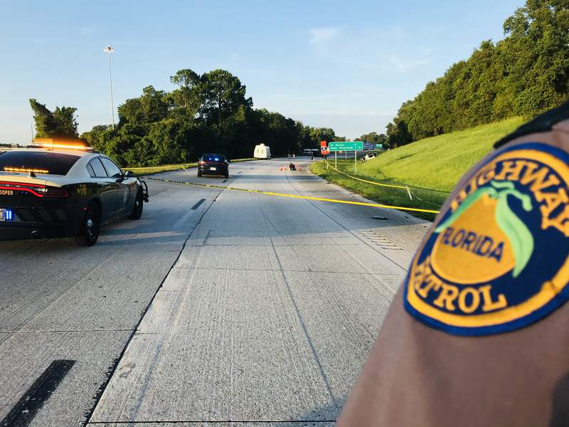 The FHP investigates a double fatal shooting on I-75.