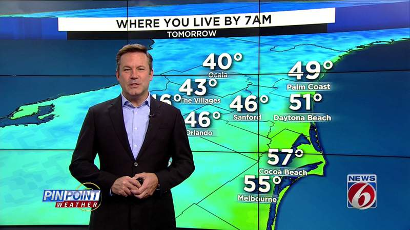Cooldown hits Central Florida ahead of Easter weekend