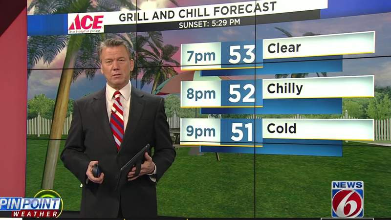 Grill & Chill: Temperatures in the 50s in Central Florida