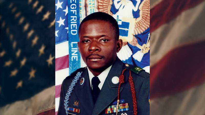 This undated image provided by the U.S. Army, shows Alwyn C. Cashe. In late August 2020, Defense Secretary Mark Esper endorsed awarding the Medal of Honor to a soldier who sustained fatal burns while acting to save fellow soldiers in Iraq in 2005. Army Sgt. 1st Class Alwyn C. Cashe of Florida previously received the Silver Star for his actions. (U.S. Army via AP)