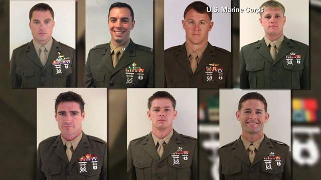 11 service members died when a U.S. Army UH-60 Blackhawk Helicopter crashed near Eglin, Florida, at approximately 8:30 p.m. March 10, 2015. Seven of those on the helicopter were Marines based at Camp Lejeune, North Carolina. They have been