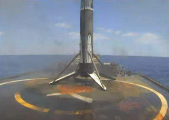 SpaceX sticks the landing on its droneship on its mission to send a GPS device into space on June 17, 2021.
