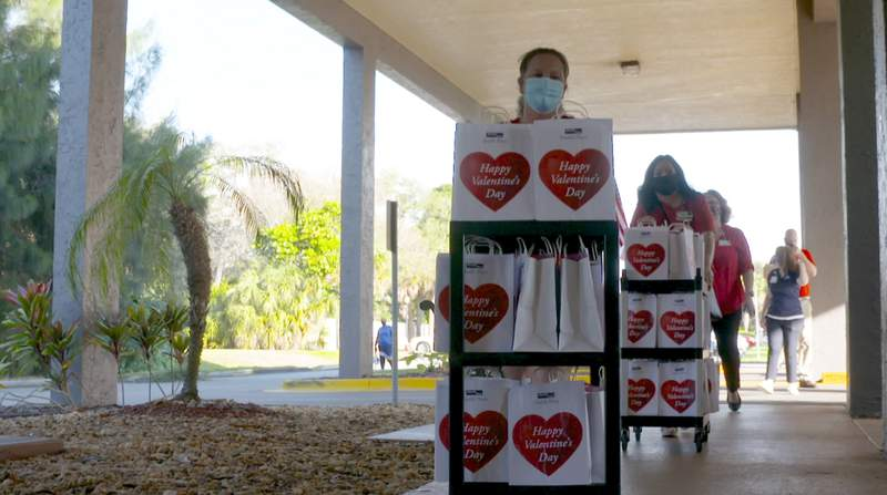 A bunch of seniors in Brevard County received a nice surprise to start Valentine's Day weekend.