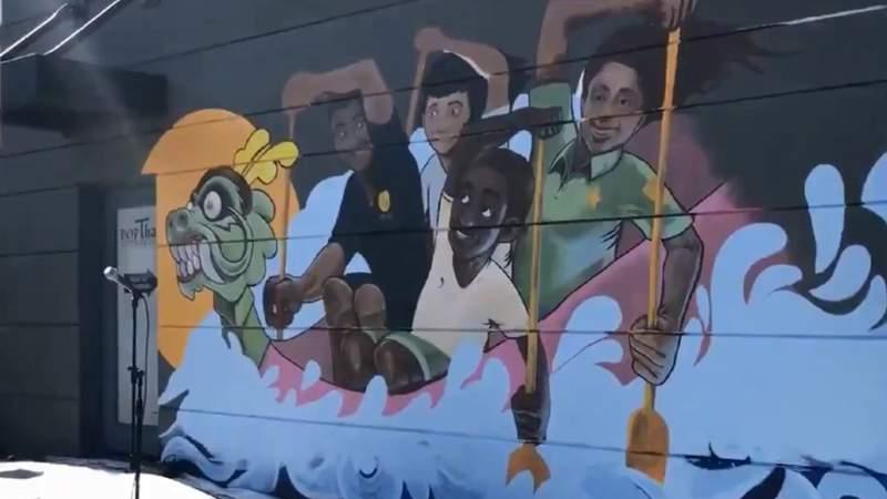 Mills 50 Dueling Dragons mural (Image: Orlando Police Department)