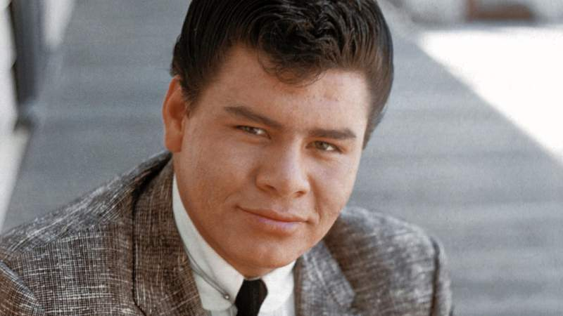 Rock and Roll singer Ritchie Valens poses for a photo during the filming of 'Go, Johnny, Go!' on January 20, 1959 in Los Angeles, California. (Photo by Richard C. Miller/Donaldson Collection)