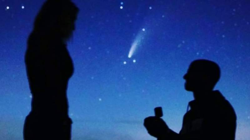 Out of this world! Cosmic proposal goes viral