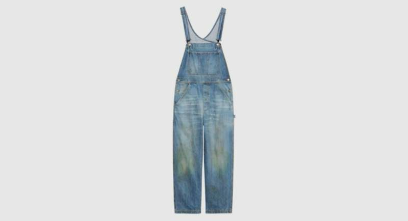 Gucci grass-stained denim