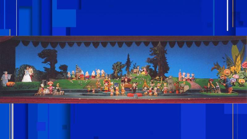 """Almost the full cast of """"The Mickey Mouse Revue"""" which was an opening day attraction in the Magic Kingdom. (Image: Disney)"""