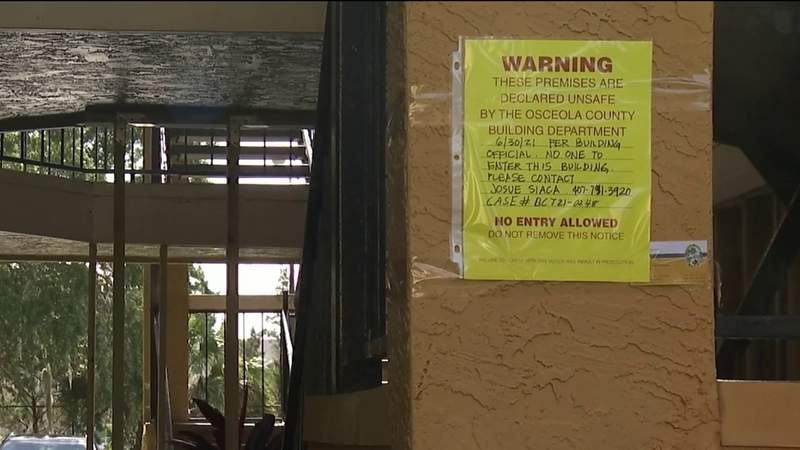 Enter at own risk: 72 Kissimmee condos unsafe as walkways 'in danger of collapse'