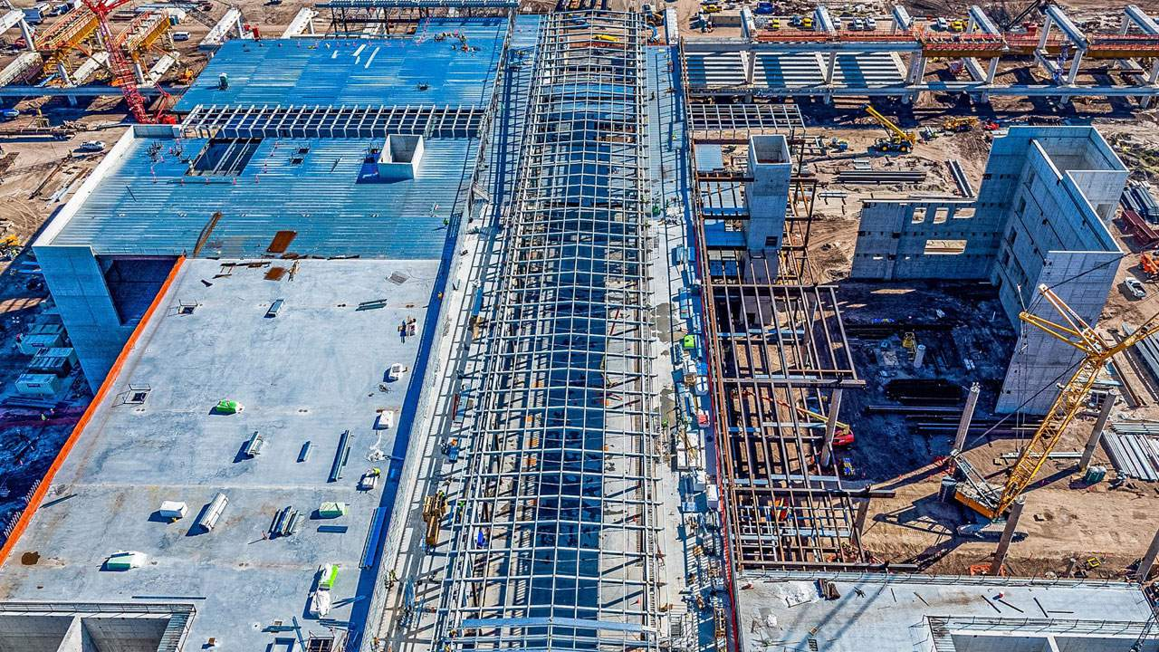 Orlando International Airport releases photos of construction progress of South Terminal Complex