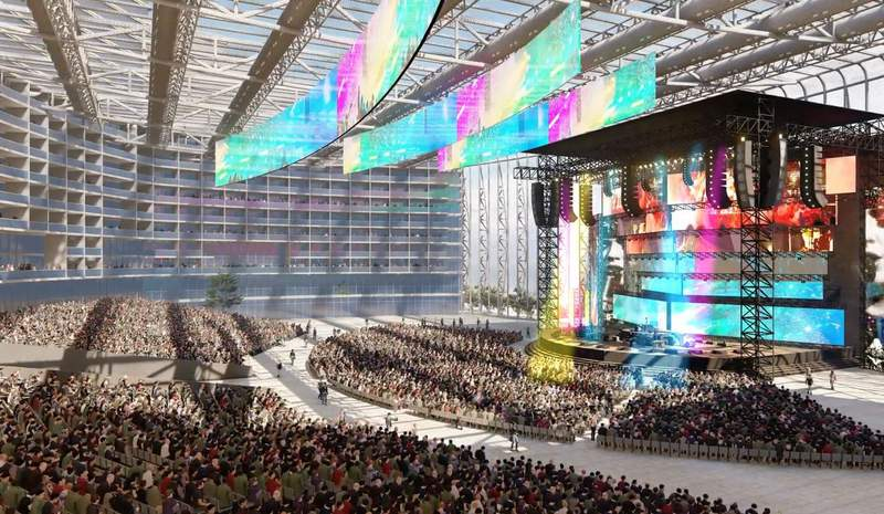Rendering of new Biloxi, MS UMUSIC Broadwater Hotel. Two other locations coming to Atlanta and Orlando