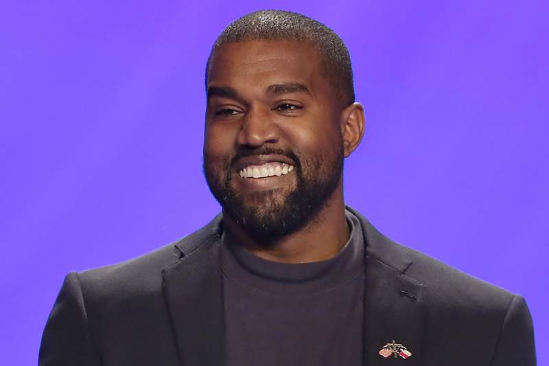 FILE - In this Nov. 17, 2019, file photo, Kanye West appears on stage during a service at Lakewood Church in Houston. In close elections, it doesn't take much for third-party candidates to play an outsize role, as Democrats learned the hard way in 2016. West has launched a scattershot 2020 presidential campaign that many of President Donald Trumps allies believe could siphon votes away from former Vice President Joe Biden. (AP Photo/Michael Wyke, File)