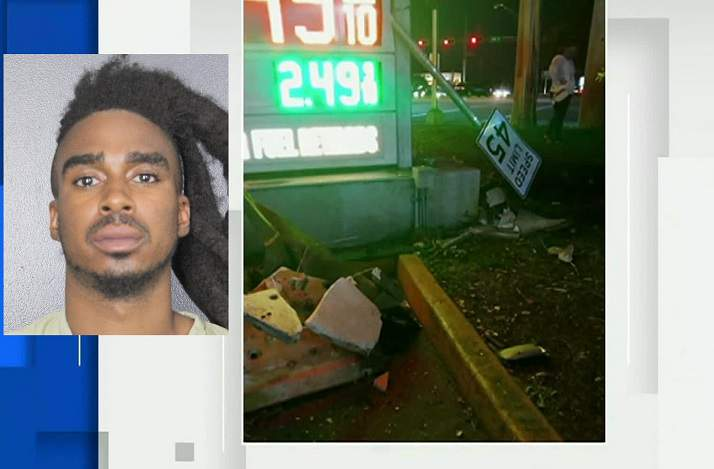 Davie police said 27-year-old Pedro Moss was intoxicated while driving a BMW X2 when he hit and killed a man in January.